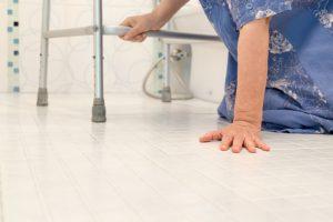 elderly person falling