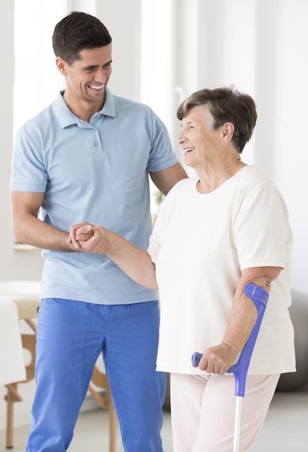 after joint replacement surgery caregiver